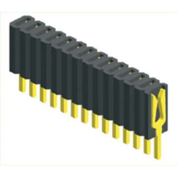 Manufactur standard for Pcb Connector 1.27mm Single Row Straight Type Female Connector supply to Dominican Republic Exporter