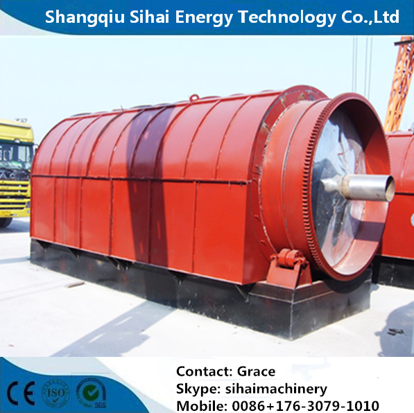 waste tire processing by pyrolysis plant