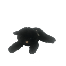 Crouching Black Plush Cat Toy