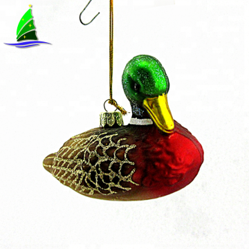 blown animal figurines decoration glass duck ornaments
