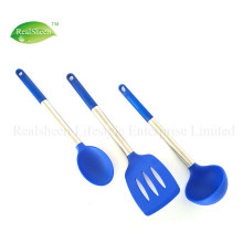 New Design Soft Handle Silicone Kitchen Utensils