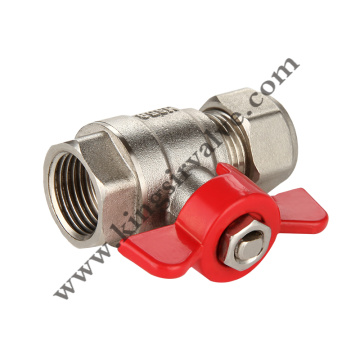 Butterfly handle nickel plating valve