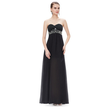 chest waist Beaded Evening diamond perspective Chiffon Dress