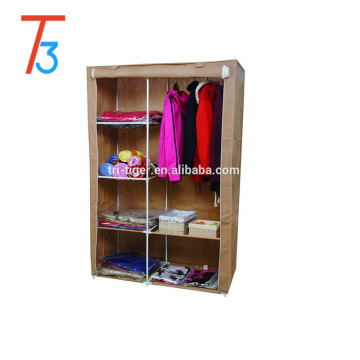 2 Door Non-wovenFolding Fabric Wardrobe Closet