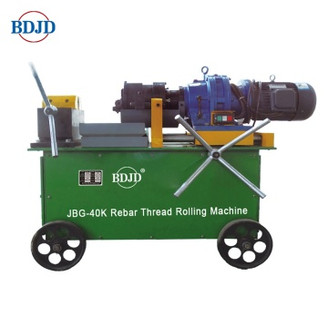 Electric steel rebar threading machine