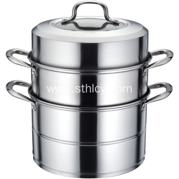 Stainless Steel 3 Layer Composite Bottom Steamer Pot