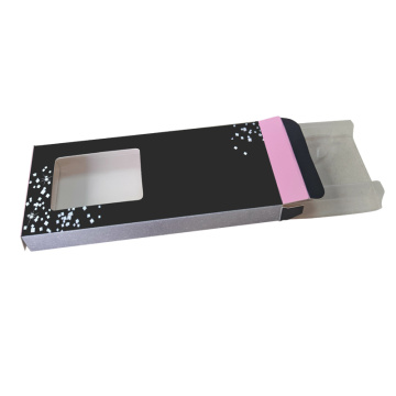 Customized PVC window false eyelash packaging box
