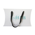 White pillow box ribbon design hair extension packaging