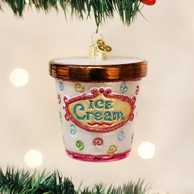 Ice Cream Glass Christmas Ornaments
