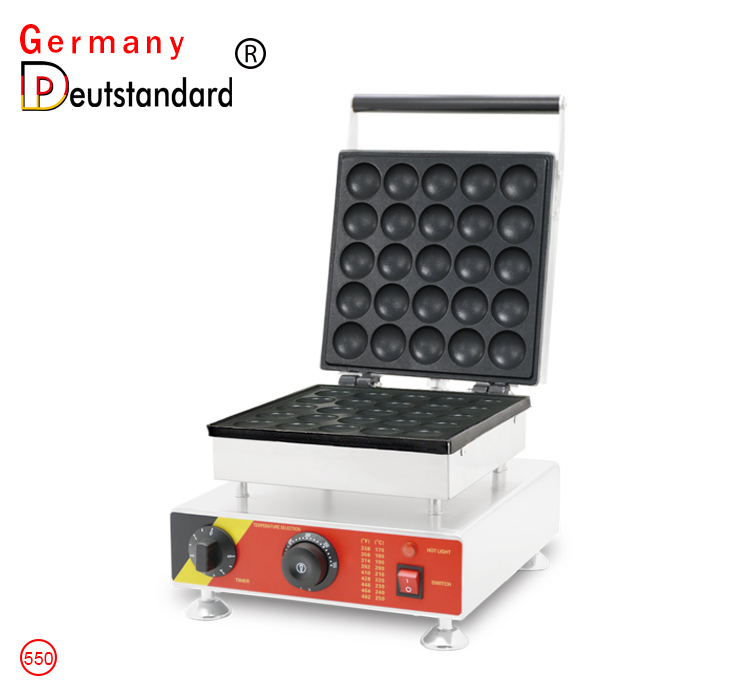 25 pcs poffertjes grill machine with cover