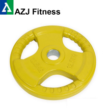 12.5KG Color Tri-grip Rubber Coated Olympic Weight Plate