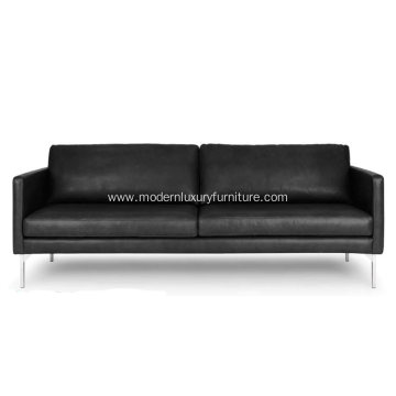 High-End Echo Oxford Black Leather Sofa
