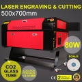 80W CO2 Laser Engraver With Color Screen 700*500mm