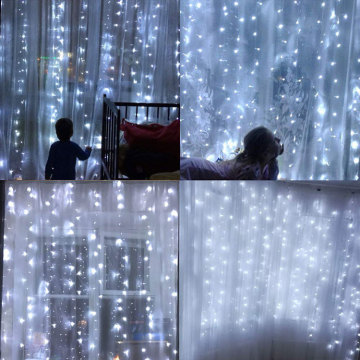 100% Original for White Led Curtain Lights Garden LED Starry Fairy Curtain String Lights export to Saudi Arabia Manufacturer