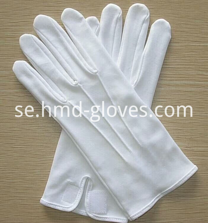 Cotton Gloves With Velcro Closure