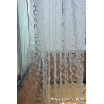 3D EVA Transparent Shower Curtain