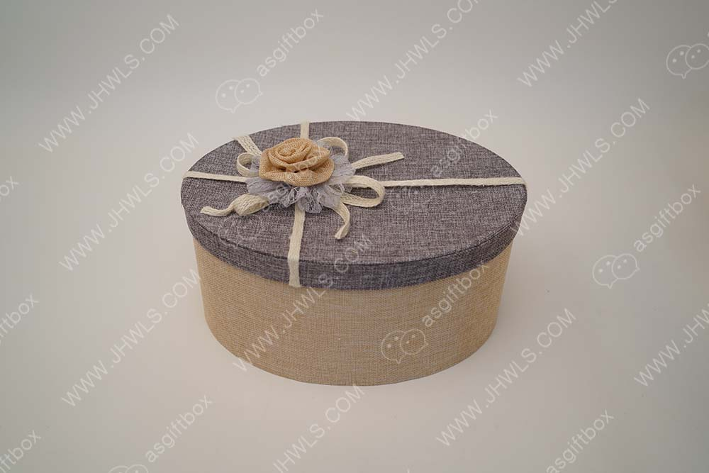 Cotton Fabric Hat Box