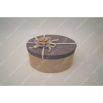 Cotton fabric hand made flower hat packing box