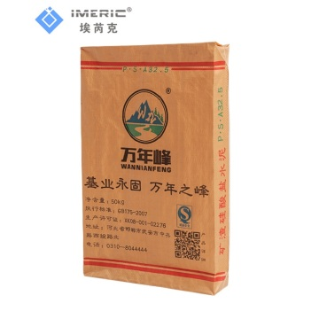 Brown Kraft Paper Bag For Cement Packaging