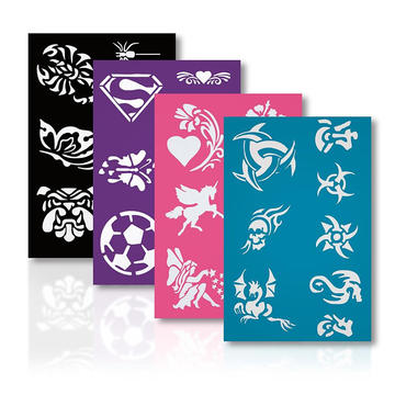 Stencil Set Safe on Skin Reusable Stencils