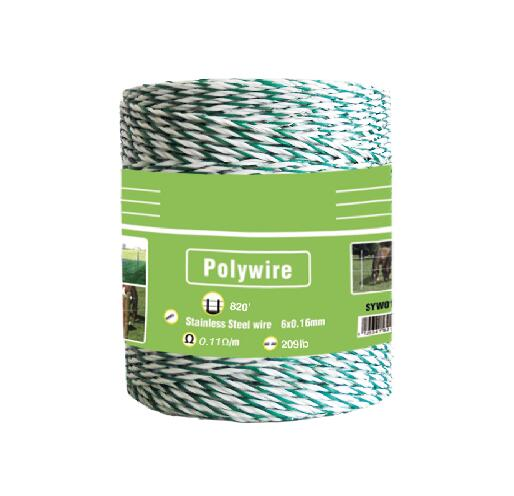 electric fence colored polywire for animal fence