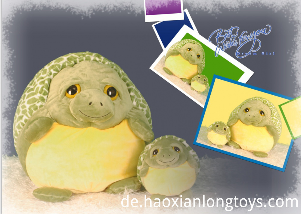 Green Plush turtle toys