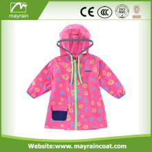 Girls Waterproof Pink PVC Rainsuit With Logo