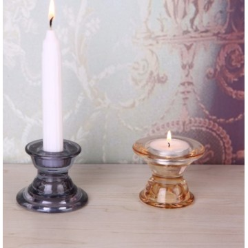Glass Dual Purpose Candlestick Holder