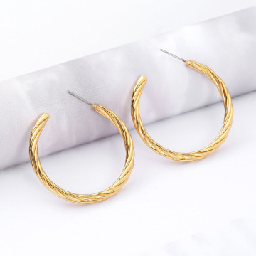 Bulk Copper Cool Thick Gold Hoop Earrings