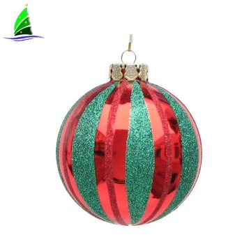 round import glass Christmas ball ornament