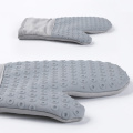 Grey Silicone Oven gloves With Cotton