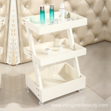 wood beauty salon trolley cart manicure trolley