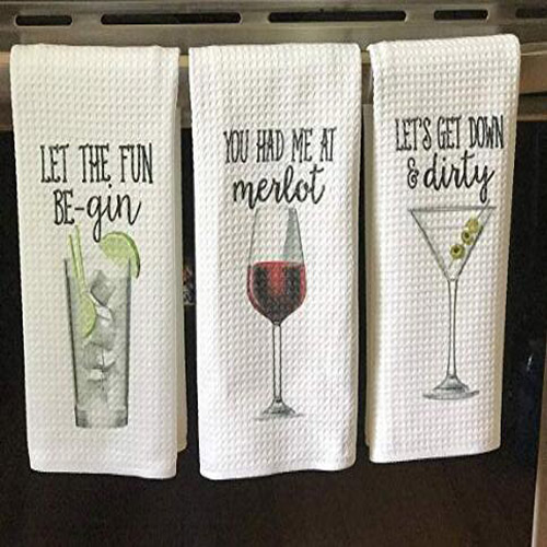 Alcohol Printed Microfiber Tea Towels