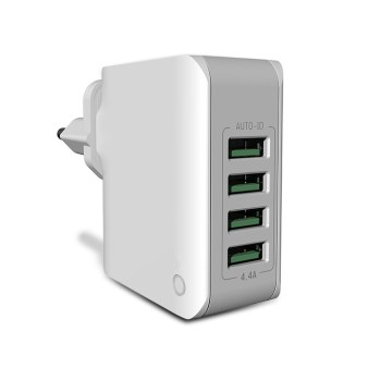 3.4A Four USB Port Travel Charger