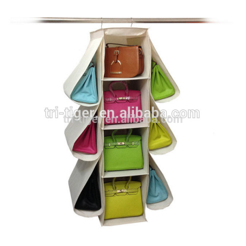 10 Pockets handbag holder hanging handbag organizer