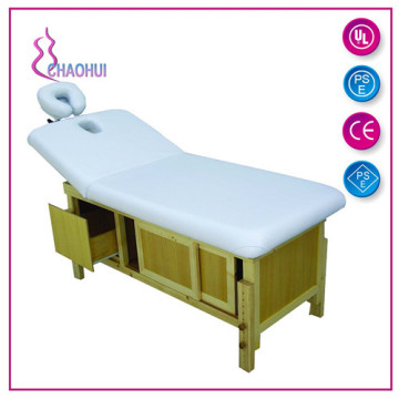 Good Quality Wooden Facial Massage Bed With Drawer