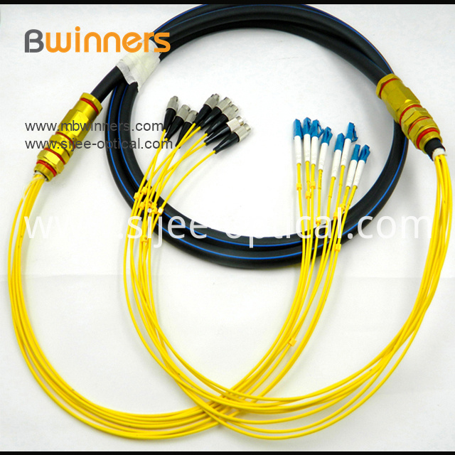 8 Core Singlemode Fc Upc To Lc Upc Waterproof Optical Cable Patch Cord