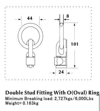 Double Stud Fitting With O Ring