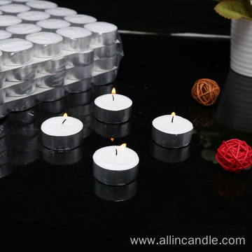 23g/9 hours white tealight candle for Australia