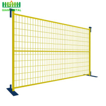 6ftX9.5ft PVC coated security canada temporary fence