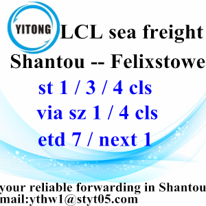 Good Quality for LCL Transport Sea Shipping to Felixstowe from Chaozhou Chaoyang Jieyang supply to United States Factory