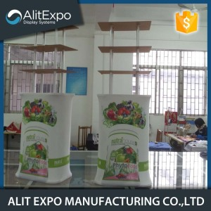 Portable trade show promotional display table counter