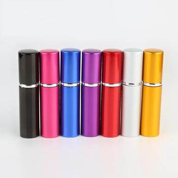 Aluminum portable perfume bottles cosmetics spray bottles