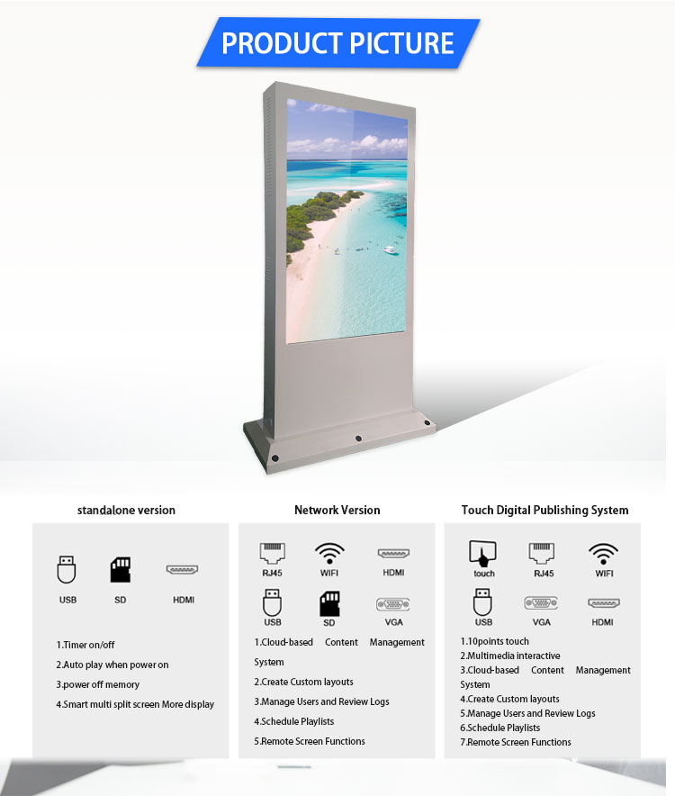 digital totem outdoor