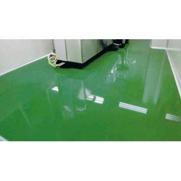 Indoor high-strength epoxy self-flowing flat paint