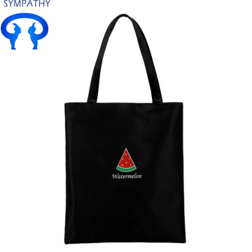 Custom fresh shopping bag white canvas bag
