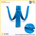 Good quality open end blue nylon zipper