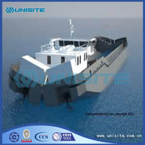 Split hopper barge design
