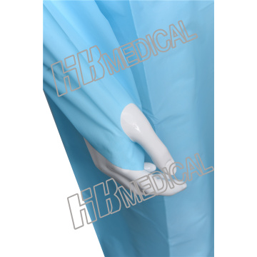 Yellow/Blue/Green/Pink Color PE Cloth Gown Isolation Gown