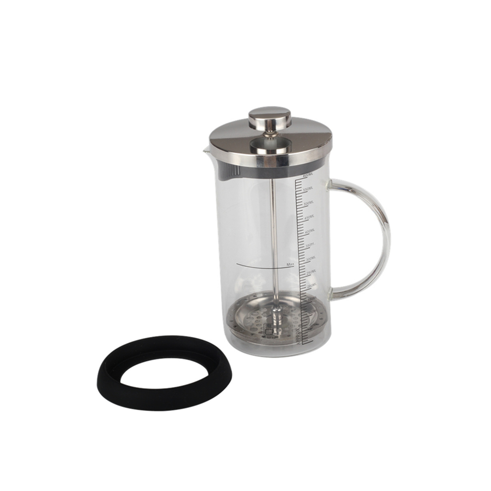 Glass Coffee French Press With Measuring Scale